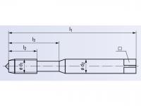 HSSE Maschinengewindeformer Drück 1-STEEL TIN  DIN21746GX
