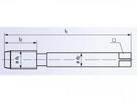 HSSE Gewindeformer Drück 2-STEEL-SN-TIN DIN2174