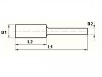 VHM-Frässtifte, Zylinder (ZYA), KOPF UND SCHAFT-Ø 3 MM