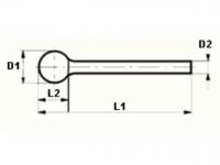 VHM-Frässtifte Kugel (KUD), SCHAFT-Ø 3 MM KOPF-Ø 4-6 MM