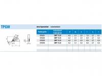 ISO-HM-WSP einseitig CBN eckenbestückt