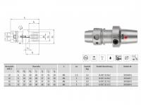 Hydro-Dehnspannfutter kurz/schlank HSK-A40