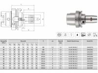 Hydro-Dehnspannfutter kurz/schlank HSK-A80