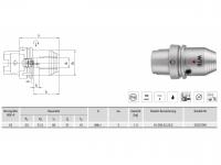 Hydro-Dehnspannfutter kurz/schwer HSK-A63