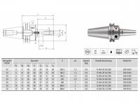 HPH-Dehnspannfutter 3° Multi schlank SK30