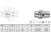 HPH-Dehnspannfutter kurz/schwer HSK-A63 mit KKB