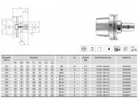 Hydro-Dehnspannfutter kurz/schlank HSK-A100