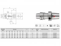 Hydro-Dehnspannfutter kurz/schlank HSK-A32