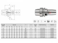 Hydro-Dehnspannfutter kurz/schlank HSK-A50
