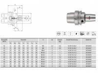 Hydro-Dehnspannfutter kurz/schlank HSK-A63