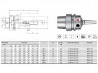 HPH-Dehnspannfutter 3° Multi schlank HSK-E50