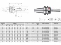 HPH-Dehnspannfutter 3° Multi schlank BT30
