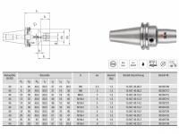HPH-Dehnspannfutter kurz/schlank BT40